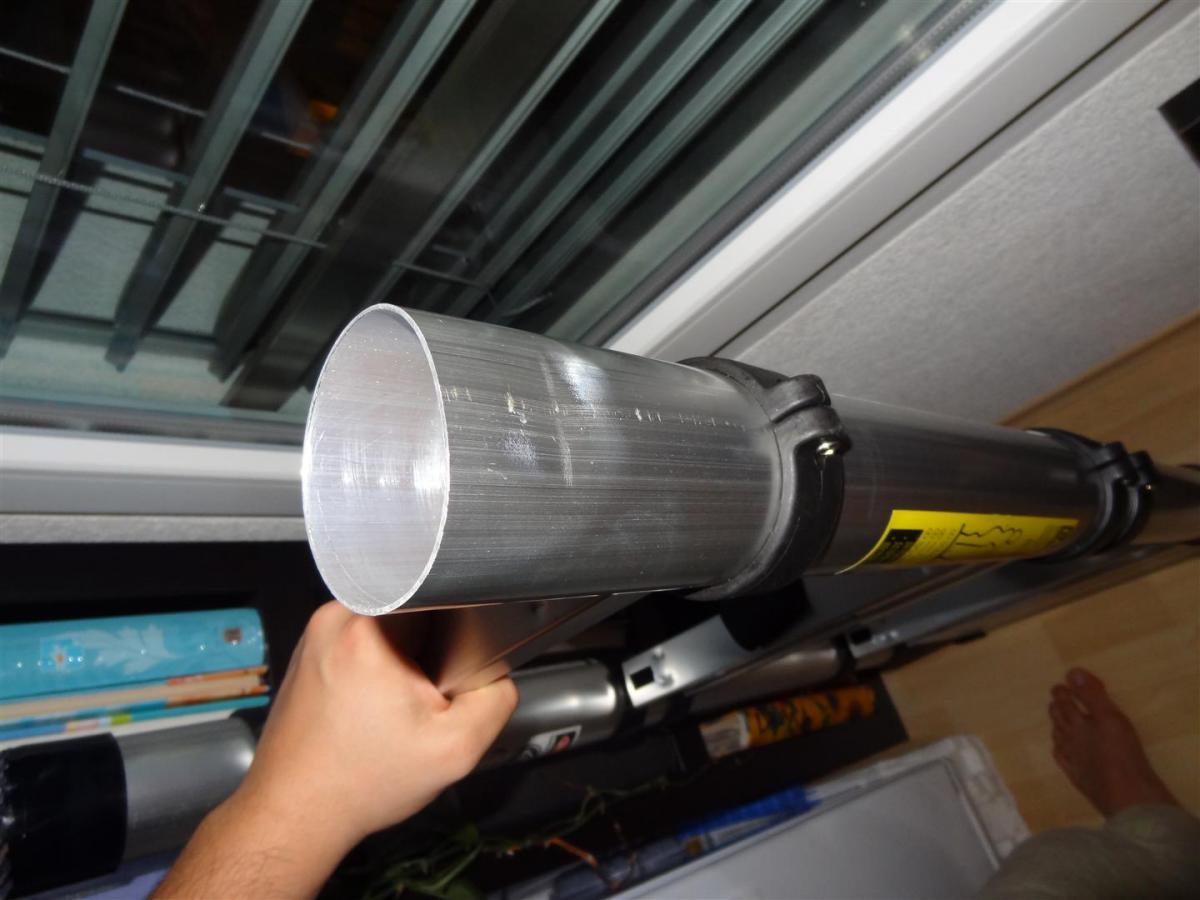 Teleskopleiter m seite ausrüstung bekleidung